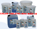CHLOR DO BASENU MAŁE TABLETKI MINI MAXI 20G RAINBOW